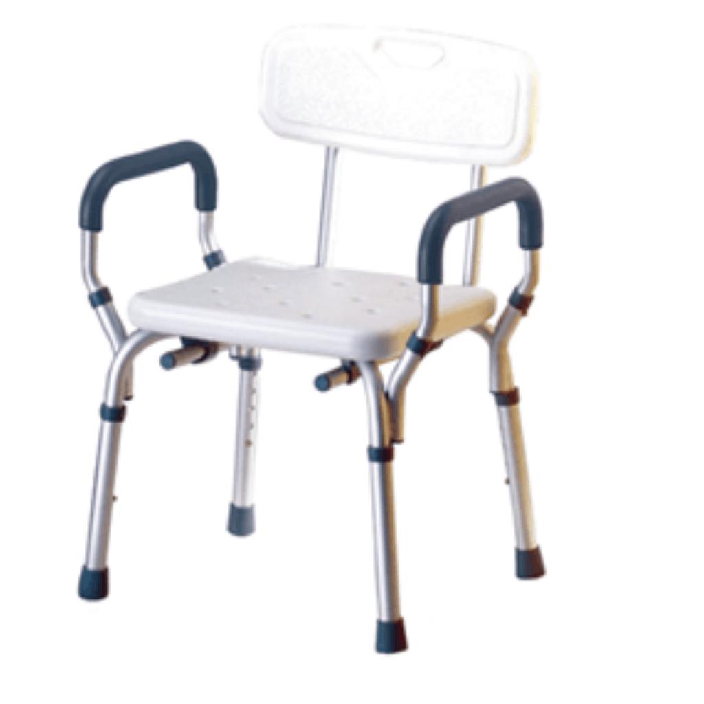 כיסא רחצה טלסקופי עם ידיות