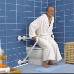 ידית אחיזה ניידת לשירותים